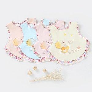 Niños comiendo bebé saliva toalla escupiendo leche babero oso de verano patrón de dibujos animados