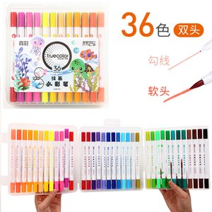 True 2128 double washable watercolor pen 12 24 color children's professional art soft head line drawing