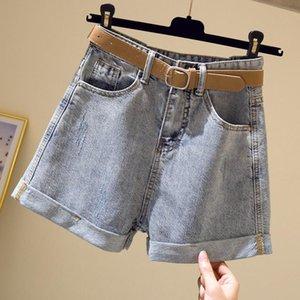 Women's Shorts Loose Jean Female Summer Tall Waist Wide Outside Leg Wear Thin Models Show Woman Pants Of