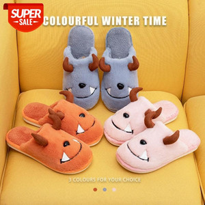Men Slippers Women Shoes Couple Slides Plush Fur 2020 Home Warm Indoor Funny Anime Men's Slippers Casual Flat Shoes Size 36-45 #7u3E