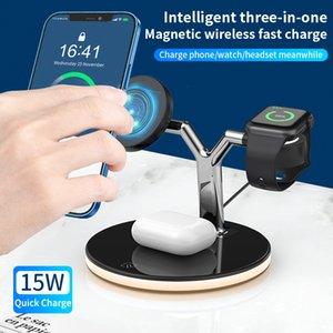 Wireless Chargers For iPhone 12 12 Pro Max 12mini Fast 20W Magnetic Wireless Chargers Stand Magnet Charges For Apple Watch SE 6 5