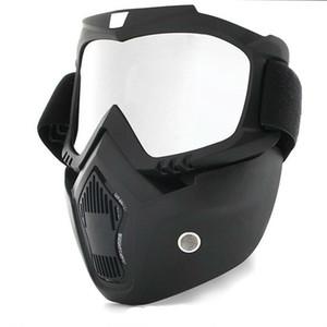 Hot Dust-Proof Radfahren Fahrrad Vollgesichtsmaske Winddicht Winterwärmer Schal Bicycle Snowboard Ski mit Anti-UV-Brillen Männer / Frauen 64 W2