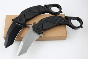 High hardness outdoor camping claw knife N690 blade double action edc hunting tactical folding pocket tool