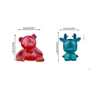 Silicone Mould DIY Epoxy Resin Crystal DIY Geometric Fashion Tools Resin Bear Elk Various Adult Children Mold DWF5236