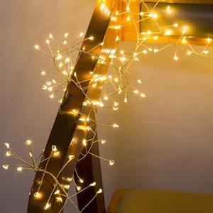 Батареи эксплуатируемая 100/200 Светодиодные Firecrackers Строковые огни Открытый Водонепроницаемый Рождественский Новый год Свадьба Фейерверк Fairy Lights
