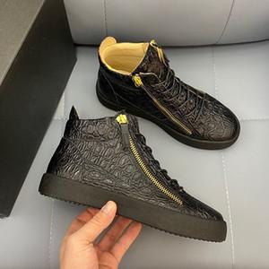 Giuseppe Zanotti shoes 2021 Erkekler ve Kadınlar için Yüksek Kalite Moda Tasarımcısı Spor Ayakkabı Rahat Ayakkabılar Fermuar Yarışması Koşu Ayakkabıları Açık Spor ayakkabı bağcığı