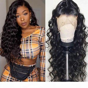 360 Full Lace Human Hair Wigs Pre Plucked Bleach Knots Long Curly Glueless Virgin Brazilian Lace Frontal Wig For Black Women