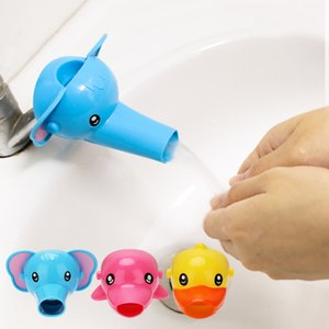Cute Animal Duck Elephant Dolphin Shape Water Faucet Extension Water Tap Extender For Kids Children Hand Washing Bathroom