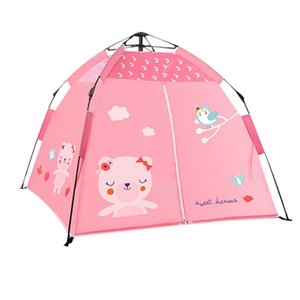 Beach Camping Tent for Children Sunscreen Portable Pops Up Tent Sunshine Shelters Kids Shade Mosquito Net Sunshine Shade Canvas