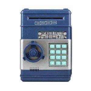 Cofrinho eletrônico Moeda ATM Password Dinheiro Caixa Moedas Salvador ATM Caixa De Seguro Caixa Auto Scroll Papel Cédula Presente Para Crianças 57 S2