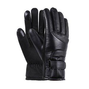 Hombres mujeres calentadas guantes recargables USB calentador de mano Guantes eléctricos a prueba de viento Ciclismo Camping Senderismo Esquí Pantalla táctil Guante B207 242 W2