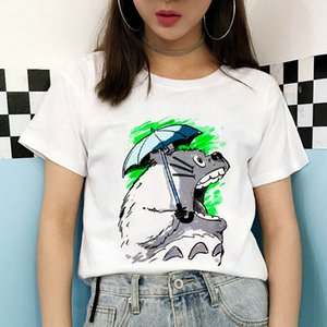 kawaii totoro womens T-shirt fashion funny Totoro print T shirt summer Harajuku Streetwear O-Neck Short sleeve Tshirt