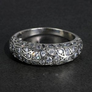 Cluster Rings Real Pure 925 Sterling Silver Luxury Design For Women Elegant Inlaid Zircon Stone Vintage Flowers Thai Jewelry