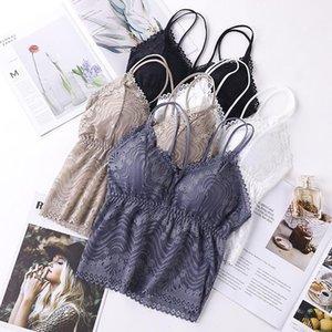 Camisoles & Tanks Lingerie Sexy Fashion Women Bralette Bra Female Tops Lace Strap Wrapped Chest Shirt Top Underwear Bras