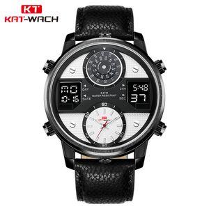 Kt720 New Sport Men's Leather Strap Waterproof Luminous Three Movement Watch