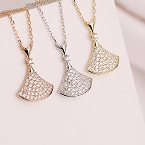 Sterling Silver 925 Neck Chain Vintage Jewelry Necklace Sets For Women Pendants Zircon Skirt Goth Friends Unusual Gold Chains Q0127