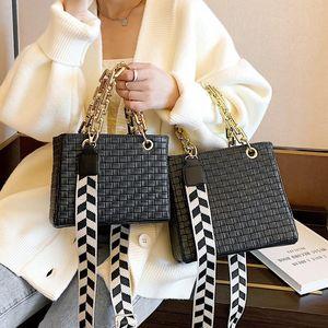 Bolsa de moda requintado saco de compras vestido crossbody para mulheres 2021 mulheres casuais totes bolsas de ombro feminino cadeia sólida bolsa de cadeia sólida