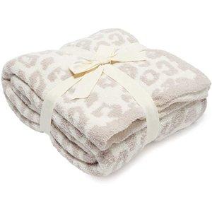 Träume Decke top verkaufen weich 100% Polyester Mikrofaserfeder Garn Leopard Zebra Jacquard Strickwurfdecke