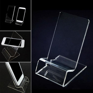 DHL fast delivery Acrylic Cell phone mobile phone Display Stands Holder stand for 6inch iphone samsung HTC xiaomi huawei