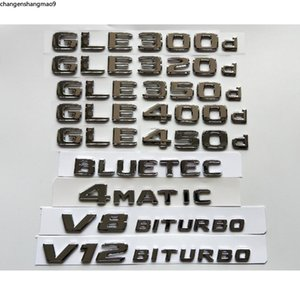 Chrome Emblems for Mercedes Benz W166 W167 C292 GLE300d GLE320d GLE350d GLE400d GLE450d GLE500d GLE550d AMG 4MATIC