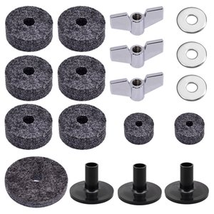18pcs set, Universal Cymbal Felt Pads Drum Accessories & Parts Wholesale Cymbals Protective Mats Separator Soft Mat For Drummers Outdoor
