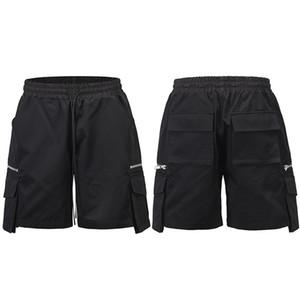 Uomini Hip Hop Cargo Shorts Streetwear Patchwork Shorts 2021 Summer Fashion Casual Harajuku Jogger Shorts Pantaloni da pista Pista