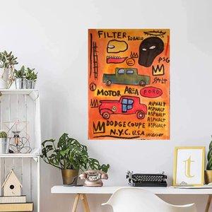 Jean-Michel Basquiat Area motore NYC Home Decor Artigianato / HD Stampa Pittura a olio su tela Wall Art Canvas Picture 210220
