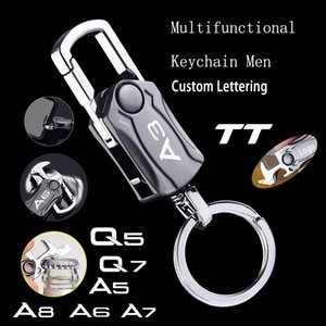 for Audi A3 A4 A5 A6 A7 Q2 Q3 Q5 Q7 Tt Beer Bottle Hanger Multifunctional Legend Key Ring Car Play Keyboard