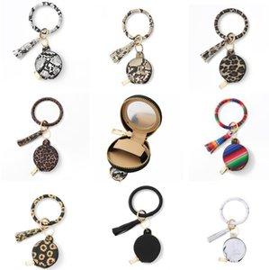 Браслет Bearchain Earbuds Сумки с макияжем зеркала PU кожаный браслет ключ кольцо держатель браслет наушники кисточки мини монеты портмоне 9 дизайнов D6483
