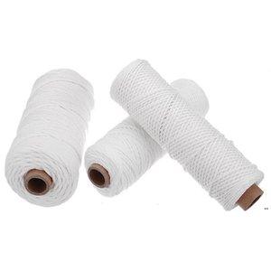 1/2 / 3mm Diámetro de algodón Cordón trenzado Craft Craft Macrame Cord Cord Cadena de artesanía DIY Hecho a mano Cuerda de algodón de color 100M DHB5316