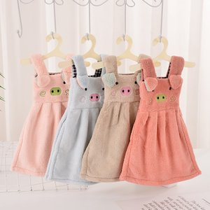 Small clothes towel cute girl face wash personality creative cartoon small skirt hanging children towel