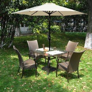 Scelto Garden Parasol зонтик с алюминиевым полюсом наклон наклона PA покрытие водостойкое солнцезащитный крем UV50 + солнцезащитный оттенок на открытом воздухе Seay FWF9978