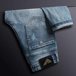Мужчины Herf Winter Cats Slim Elastic Италия Eagle Brand Fashion Business Classic Style джинсы джинсовые BROEK мужской