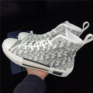 Ohne Box 20SS neue hochwertige hochwertige luxus mode schuhe leinwand co name high top atmungsaktive modebrett schuhe Dior b23 shoes