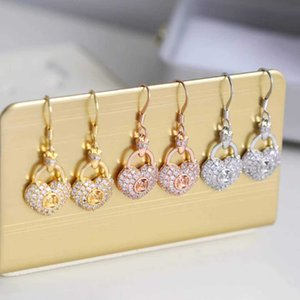 2021 Top quality drop earring with diamond heart shape for women and man jewelry gift have box PS4458