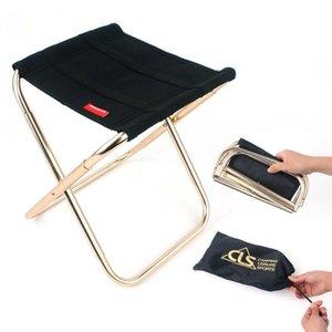 Piegatura all'aperto piegatura in alluminio sedia sgabello sedile da pesca campeggio sedia da pesca pieghevole all'aperto portatile ultra leggera portatile