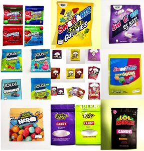 EMPTY Edibles Packaging mylar bags Infused Gummy Worms Candy edible package rope dope belts