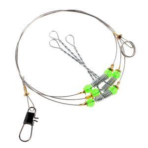 Anti-enrolamento swivel string mar gancho de pesca de aço líder de fio fish ganchos u7ef