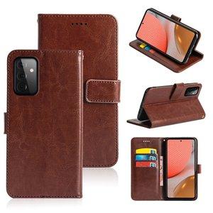 Custodia a flip in pelle per OPPO A52 A72 RealMe X7, copertura del telefono della slot della carta del portafoglio per OPPO
