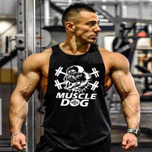 الرجال سترة كمال الاجسام اللياقة العضلات الكلب الرياضة الطباعة سترة الصيف جديد وصول الرجال الملابس التدريب الملابس بالجملة