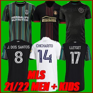 MLS New 2122 La Galaxy Soccer Jersey Los Angeles Atlanta United FC Футбольные футболки 2021 2022 Интермень Miami CF Chicicarito Pavon Джерси Мужчины + дети