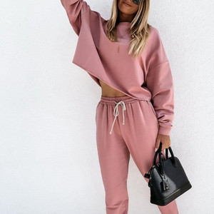 DUUTI Womens Tracksuit Loose Fit 2 Piece Set Pullover Pants Women Sport Suit Spring And Autumn Solid Pink Black Gray Sportswear