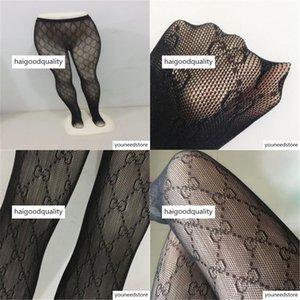g Top Quality Sexy Pantynose Women Full Letter Black White Leggings Brand Girl Hosiery