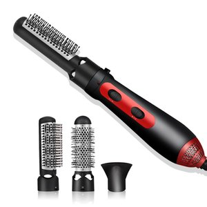 UKLISS 3 in 1 Hot Air Comb Professional Electric Dryer Straightener Hair Curling Blow Hairdryer Salon Styling Tools