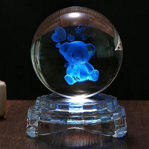 Novelty Items ZK30 High Grade Home Desktop Milky Way Galaxy Transparent Crystal Ball With Light Effect Base