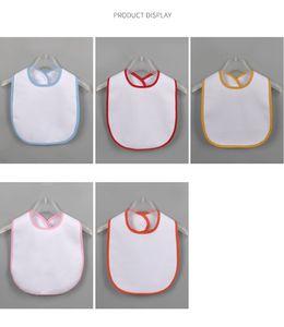 Süblimasyon Boş Bebek Önlüğü DIY Termal Transferi Bebek Burp Bezleri Su Geçirmez Önlük Çocuk Ürün 5 Renkler