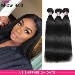 Paquetes de pelo humano indio al por mayor 4pcs Jet Negro Negro Negro Peruano Virgen Straight Weave Bundles Envío gratis