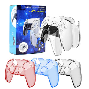 For PS5 Playstation Crystal protective case 4 color Controller Grip Cover With Retail Box Fast shipping