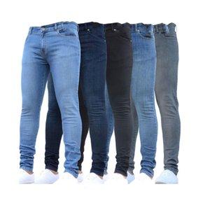 Men's Jeans Slim stretch denim European and American autumn black tight-fitting pants