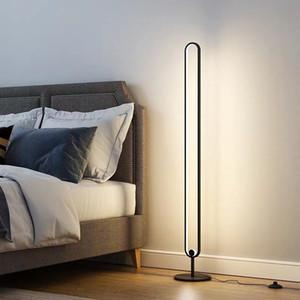 Modern Lüks Zemin Lambası Şeffaf Masa Lambası Basit Modern Çalışma Led Zemin Işık Yatak Odası Oturma Odası Için
